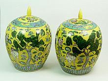 CHINESE YELLOW GROUND REPUBLIC GINGER JAR