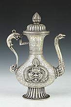 TIBETAN SILVER EWER