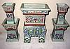 Three Piece Chinese Porcelain Shrine Set