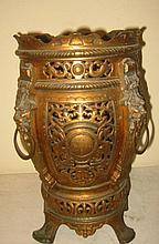 19th Century Bronzed Metal Oil Lamp Base