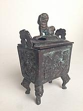 Old Chinese Bronze Insence Burner
