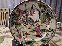 Antique/Vintage Chinese Export Famille Rose Medallion Porcelain Plate