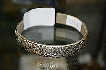 Chinese white metal bangle