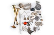 Lot of Silver and Costume Jewelry
