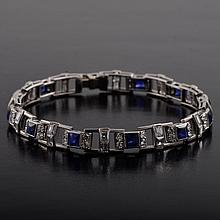Mauboussan diamond sapphire bracelet
