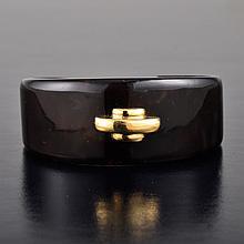 Cartier gold tortoise shell cuff bracelet