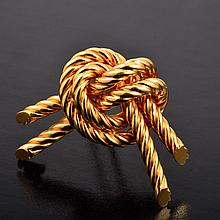 Hermes gold pin
