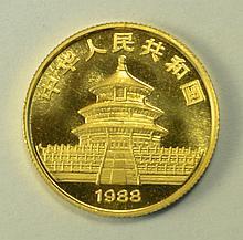 China 1988 1/4 oz. Gold Panda.