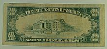 1929 Ty.1 $10 National Currency Note - The Swedish-American National Bank of Rockford, Illinois.  Charter# 9823.