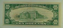 1929 Ty.2 $10 National Currency Note - The First National Bank of Janesville, Wisconsin.  Charter# 2748.