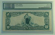 1902 $10 National Currency Note - The Chatham and Phenix National Bank of the City Of New York, New York.  Charter# 10778.  PMG Certified Choice Very Fine 35 net.