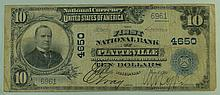 1902 $10 National Currency Note - The First National Bank of Platteville, Wisconsin.  Charter# 4650 FR# 628.