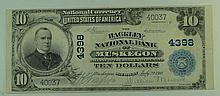 1902 $10 National Currency Note - The Hackley National Bank of Muskegon, Michigan.  Charter# 4398.  FR# 627.
