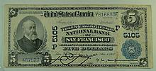 1902 $5 National Currency Note - Wells Fargo Nevada National Bank of San Francisco, California.  Charter# 5105. FR# 606.