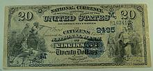 1882 $20 National Currency Note - The Citizens National Bank of Cincinnati, Ohio.  Charter# 2495 FR# 555.