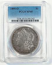 1895 O Morgan Dollar.  PCGS Certified XF45.