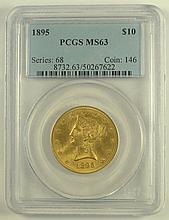1895 $10.00 Liberty Gold.  PCGS Certified MS63.