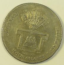 German States 1794 Hamburg 32 Shillings.