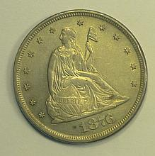 1876 Twenty Cent Piece.