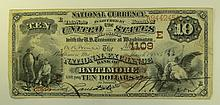 1882 $10 National Currency Note - The national Exchange Bank of Baltimore, Maryland.  Charter # 1109.
