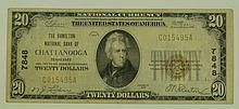 1929 Ty. 1 $20 National Currency Note - The Hamilton National Bank of Chattanooga, Tennessee.  Charter# 7848.  FR# 1802-1.