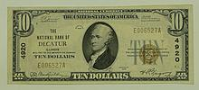 1929 Ty.1 $10 National Currency Note - The National Bank of Decatur, Illinois.  Charter# 4920 FR# 1801-1.
