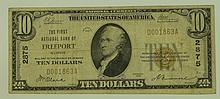 1929 Ty. 1 $10 National Currency Note - The First National Bank of Freeport, Illinois.  Charter# 2875 FR# 1801-1.