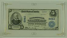 1902 $5 National Currency Note - Taylorville National Bank Taylorville, Illinois.  Charter# 8940  FR# 600.