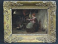 BRITISH SCHOOL (19TH CENTURY), Woman Spinning in
