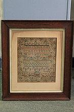 18TH CENTURY NEEDLE POINT CHILDS SAMPLER, by Nancy