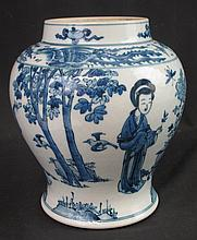 CHINESE PORCELAIN UNDERGLAZED BLUE BALUSTER SHAPED VASE overall decorated with chasing phoenixes to