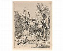 Giovanni Battista TIEPOLO (1696-1770) La Femme assise parlan