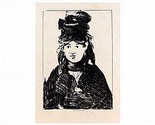 Edouard MANET (1832-1883) Berthe Morisot (première planche)