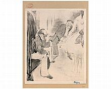 Edgar DEGAS (1834-1917) Homme assis et danseuse  (Adhémar et