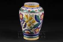 A Poole Pottery vase of baluster form, YW pattern, decorated by Ruth Pavely, 1922-65, 18.5cm high