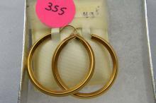 Earrings, hoop style, gold filled