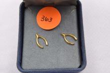 Earrings, gold filled