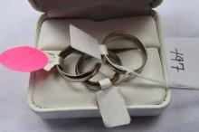 Rings, (3) men's sterling silver bands, size 8