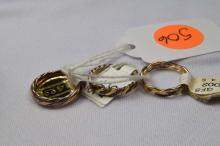 Rings, (2) ladies gold filled, Size 4.5