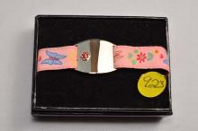 Medic alert, child's, wit pink fabric band
