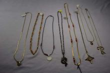 (8) various costume necklaces