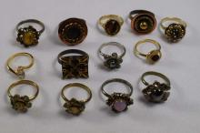 (13) various design costume rings