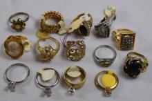 (14) various design costume rings
