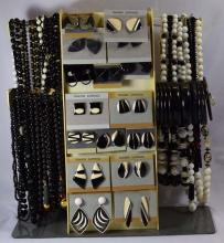 Costume Jewelry; 30 beaded necklaces, 19 pair of earrings, 20 bracelets