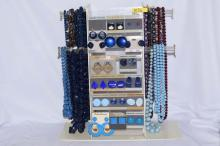 Costume jewelry; 26 beaded necklaces, 17 pair of earrings