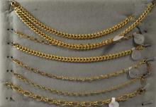 7 gold filled charm bracelets