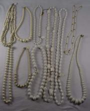 (10) Lucite Necklaces