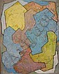 IRWIN CROWE (1908-2003) ABSTRACT. Oil