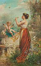 HANS ZATZKA - THE LOVE LETTER - Oil on panel