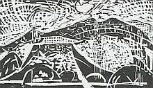 GUY GREY-SMITH - MOUNT AUGUSTUS - Woodcut